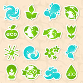 Glossy nature and water symbols — Stock Vector