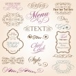 Vector de stock : Calligraphic design elements