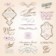 Calligraphic design elements — Vettoriali Stock