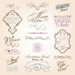 Calligraphic design elements - Stock vektor
