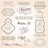 Calligraphic design elements — Wektor stockowy