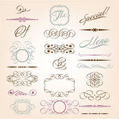 Calligraphic design elements — Stockvector
