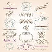 Kalligrafische design-elemente — Stockvektor