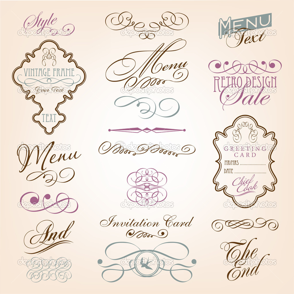 Calligraphic design elements  Stock Vector #5307305