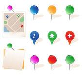 办公室的插图,不同 pin 设置 — 图库矢量图片