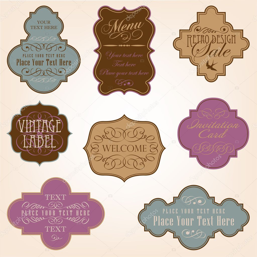 Vintage vector frames  — Stock Vector #5340242