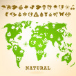Green Earth illustration with ecology icons — Stock Vector #5364362