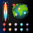 Weather and Climate vector set - Stockvektor
