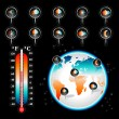 Weather and Climate vector set - Stock Vector