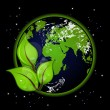Beautiful Earth on black background - Imagen vectorial