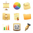 Icons for office — Stock Vector