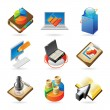 Stock Vector: Icon concepts for business