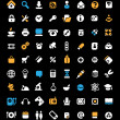 Icon set on black background — Vector de stock