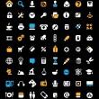 icono situado en fondo negro — Vector de stock