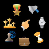 Icons for business metaphor — Vector de stock