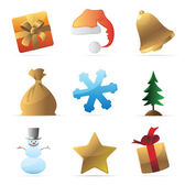 Icons for Christmas — Stock Vector