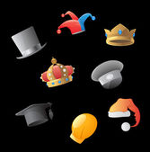 Icons for hats — Stock Vector