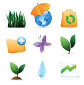 Icons for nature, energy and ecology — Stock Vector