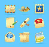 邮政服务的图标 — 图库矢量图片