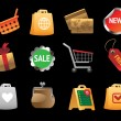 Icons for shopping — Stockvectorbeeld