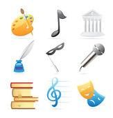 ícones para artes — Vetorial Stock