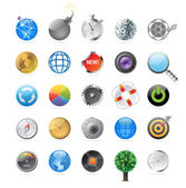 Icons for circles — Stock Vector