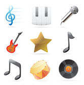 Icons for music — Stock Vector