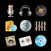 Icons for sound — Stock Vector