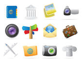 Icons for travel — Vector de stock