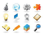 Isometric-style icons for science and industry — Stock Vector