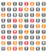 Red and orange buttons — Stock Vector