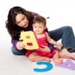 Baby learning alphabet ABC — Stock Photo