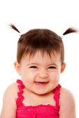 Happy laughing baby — Stock Photo