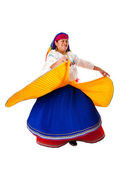 Dancing Latin Gypsy woman — Stock Photo