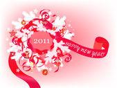 Red wreath — Stock Vector