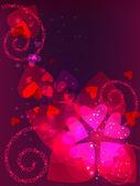Dekorative valentin postkarte — Stockvektor