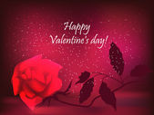 情人节玫瑰 — 图库矢量图片