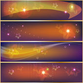 Decorative star banners — Stock Vector