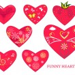 Heart set — Stock Vector #4490574