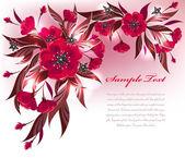 Fondo flor roja — Vector de stock