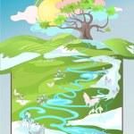 Spring landscape — Stock Vector #5221810