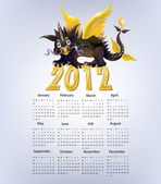 Dragon calendar — Stock Vector