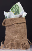 Bag money — Stock Photo