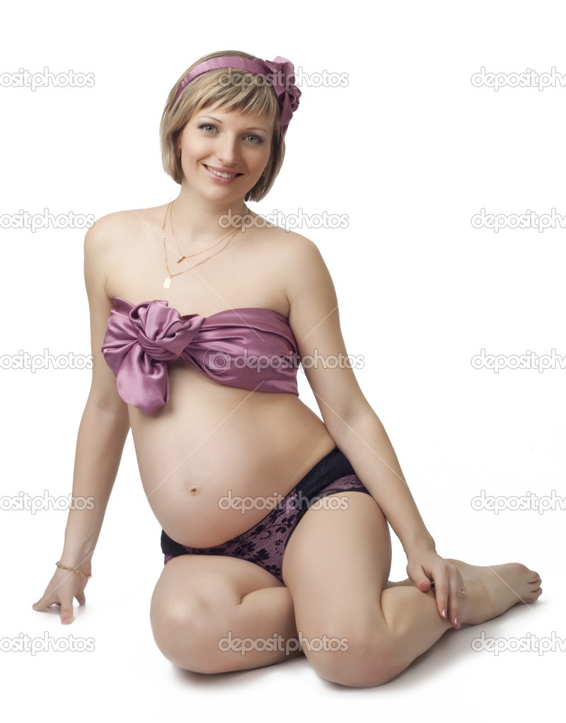 Cute young pregnant girl, for your design — Stock Photo #5304472
