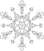 Summer snowflake. — Stock Vector