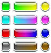Botones de varios colores. — Vector de stock