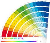 Rainbow palette — Stock Vector