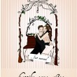 Royalty-Free Stock Vectorielle: Vector illustrated married couple