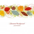 Fall seamless background — Stock Vector