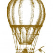 Hot air balloon — Vector de stock